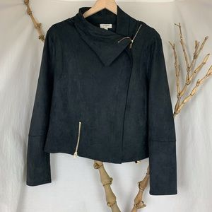 Umgee Black jacket with gold zippers